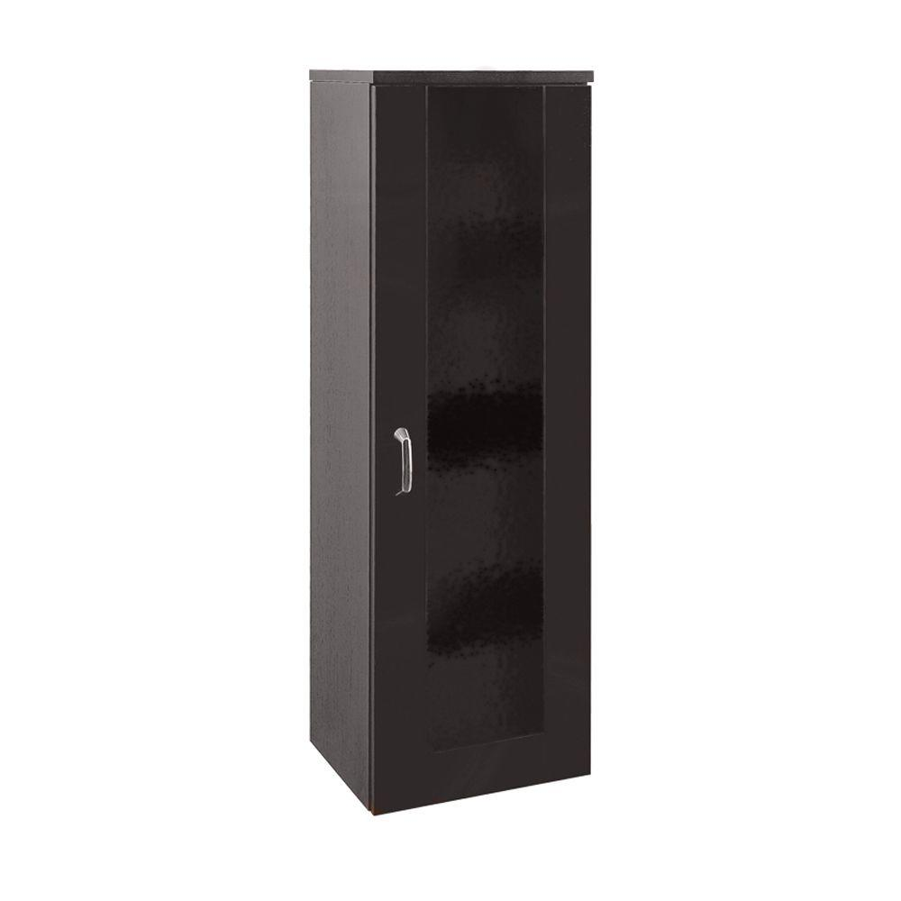 Porcher Kyomi 14 in. W Side Cabinet with Glass Door in Wenge-DISCONTINUED
