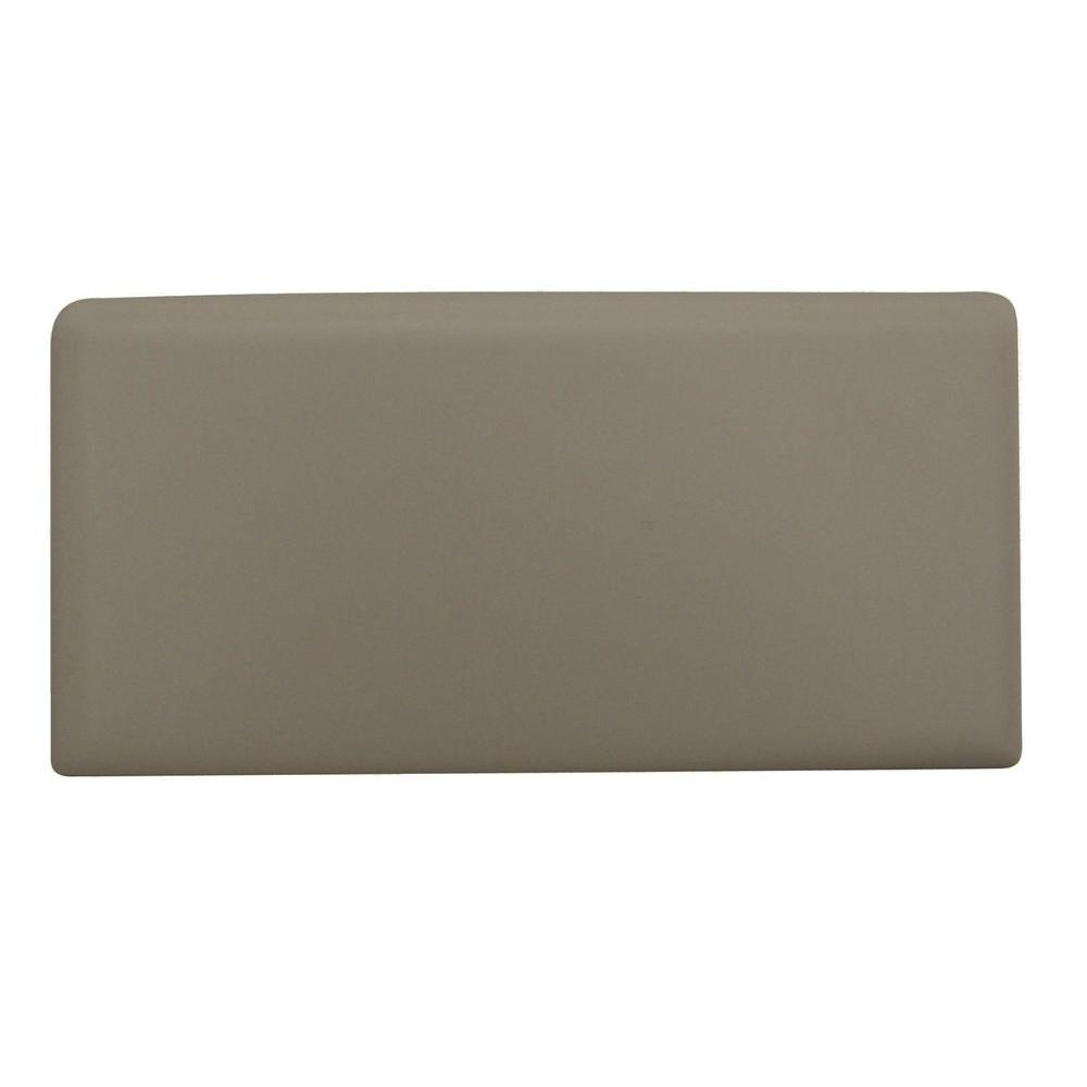 Daltile Rittenhouse Square Matte Biscuit 3 in. x 6 in. Ceramic Right Bullnose Wall Tile