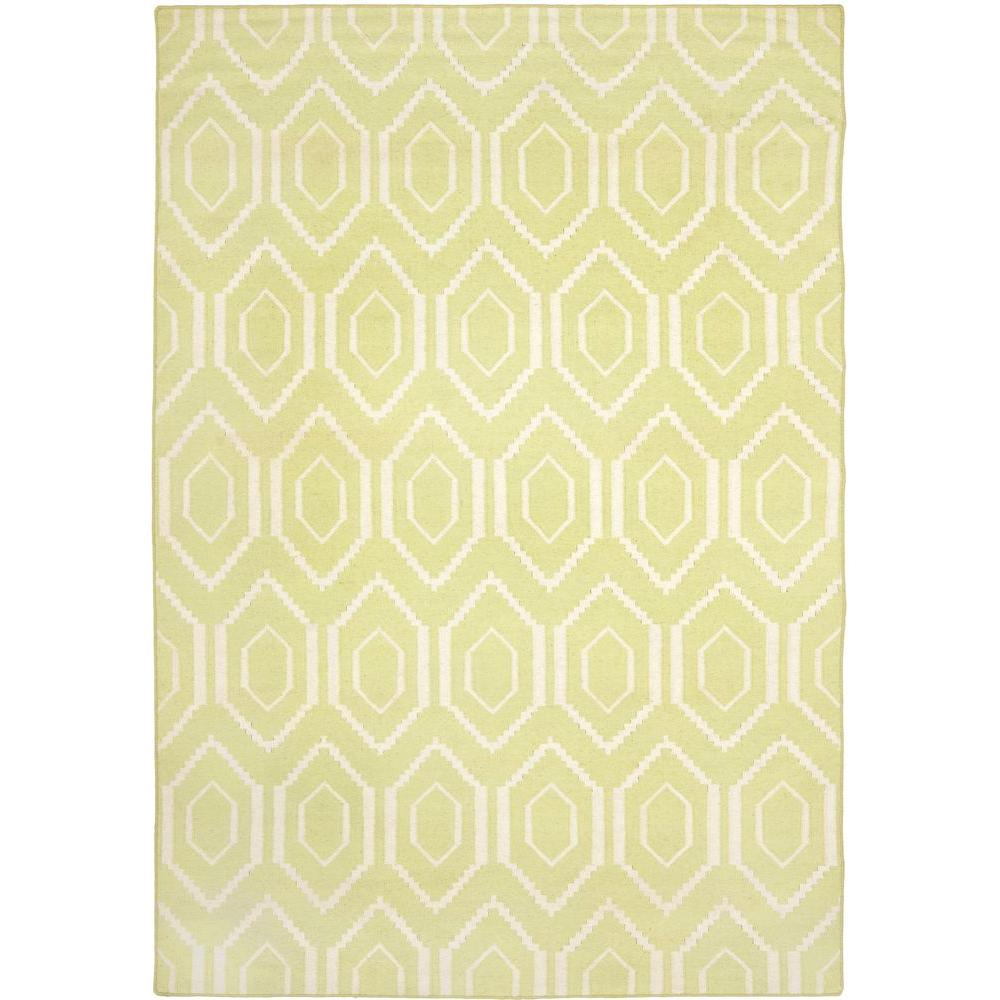 Dhurries Green/Ivory 6 ft. x 9 ft. Area Rug