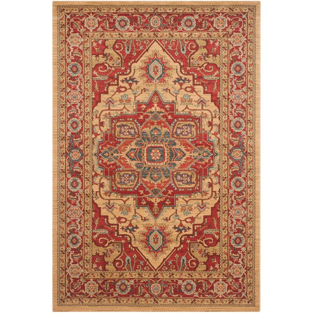 Mahal Red/Natural 5 ft. 1 in. x 7 ft. 7 in. Area Rug