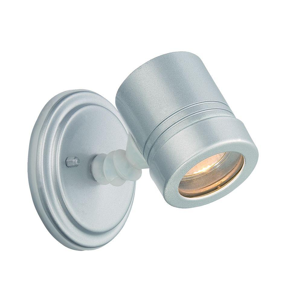 Acclaim Lighting Cylinders Collection Wall-Mount 1-Light Brushed Silver Outdoor