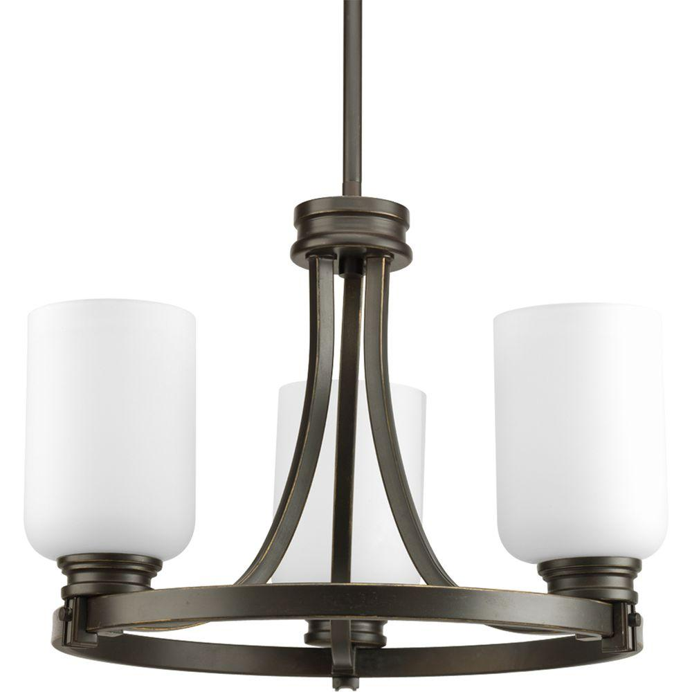 Progress Lighting Orbit Collection 3-Light Antique Bronze Semi-Flush