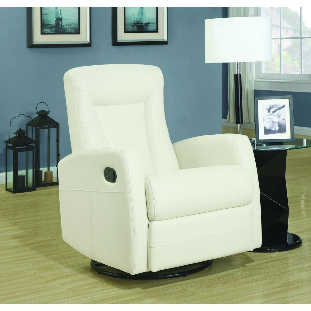 white leather chair and a half monarch specialties ivory bonded leather swivel recliner 21976 | 80b44fd7 5b41 42f2 bb6a d7ab92344879 1000