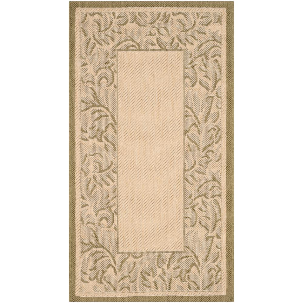 Courtyard Natural/Olive (Natural/Green) 2 ft. 7 in. x 5 ft. Indoor/Outdoor Area Rug Sale $29.67 SKU: 205892774 ID: CY2666-1E01-3 UPC: 683726285878 :