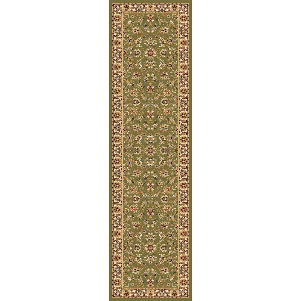 Concord Global Trading Williams Collection Ararat Green 2 ft. 2 in. x 7 ft. 10 in. Rug Runner