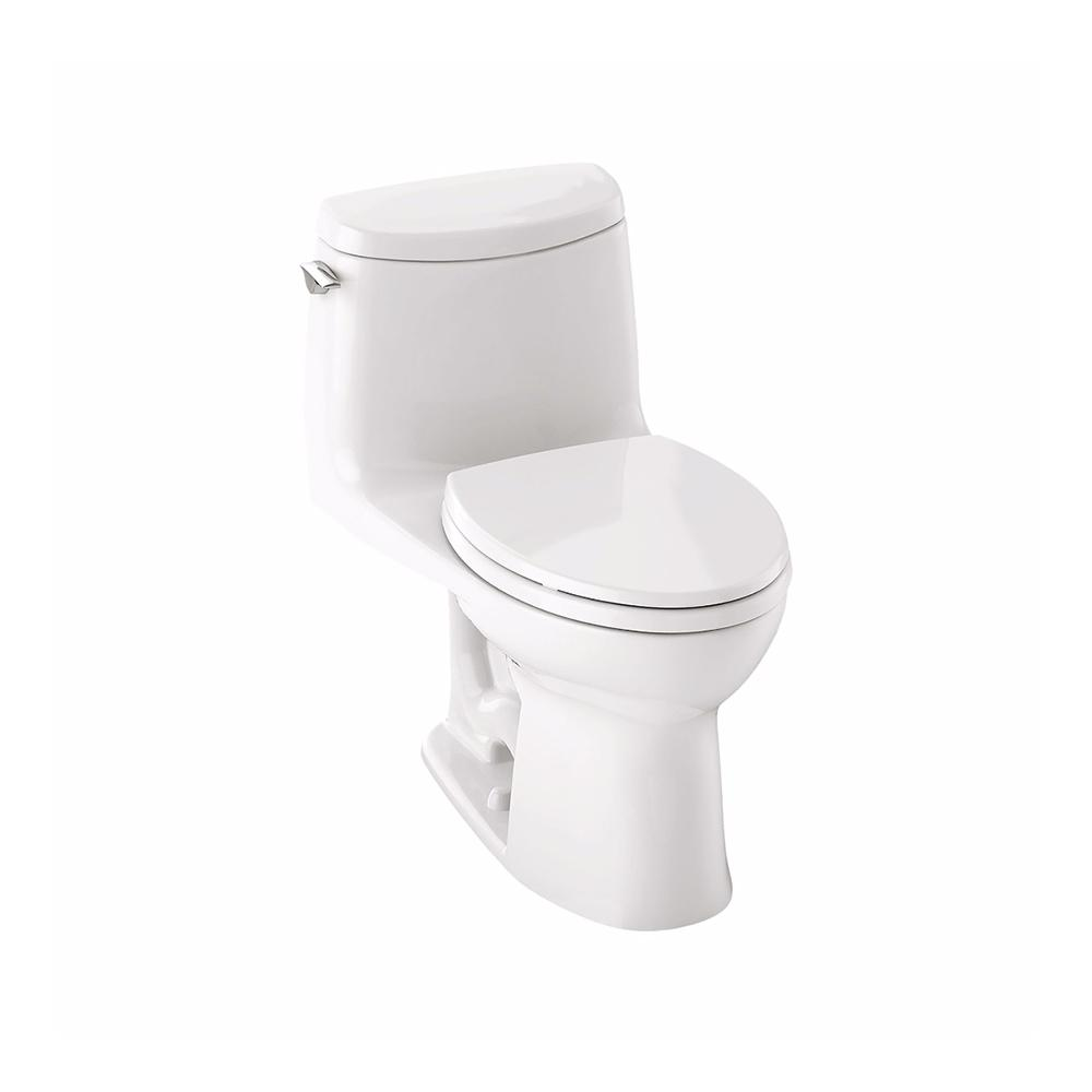 UltraMax II 1-piece 1.0 GPF Single-Flush Elongated Toilet in Cotton White