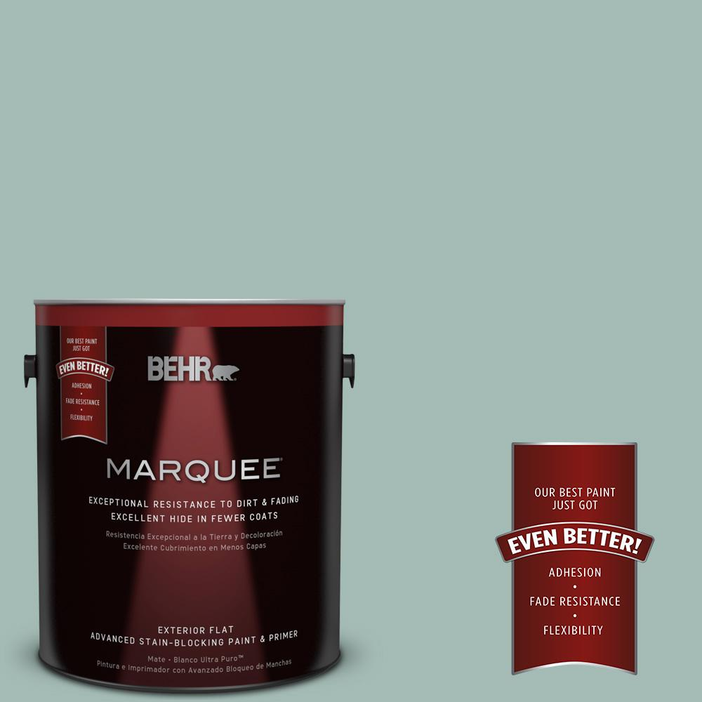 BEHR MARQUEE 1-gal. #S430-3 Garden Twilight Flat Exterior Paint-445401 - The