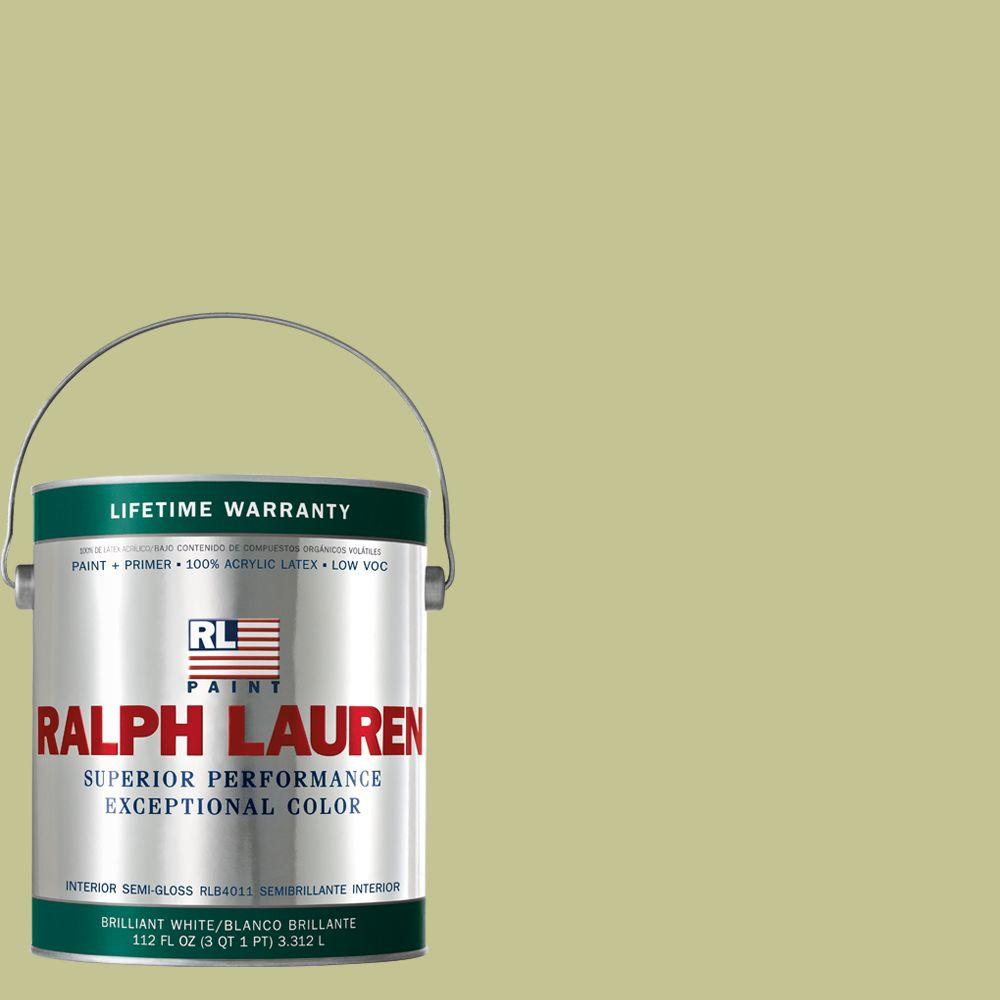Ralph Lauren 1-gal. Bolster Green Semi-Gloss Interior Paint-RL1655S - The Home
