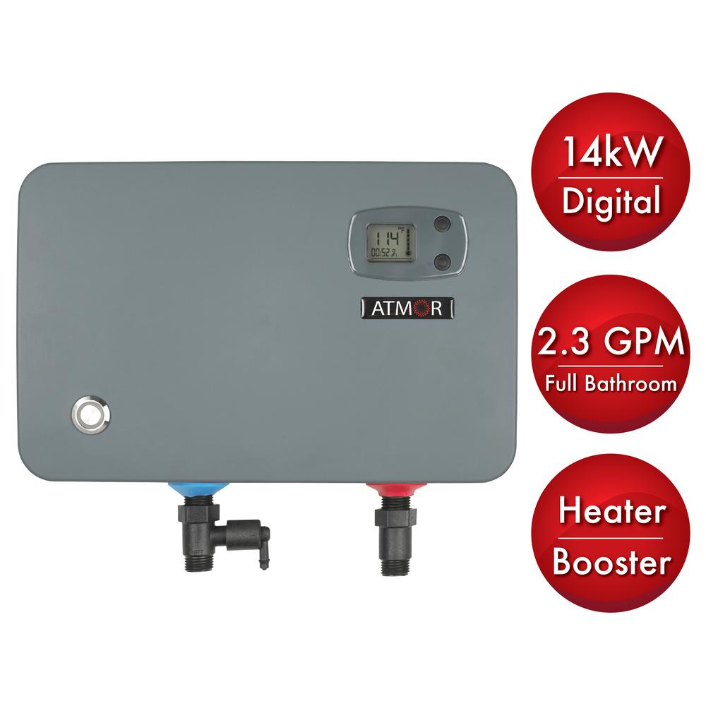 14 kW/240-Volt 2.3 GPM Electric Tankless Water Heater, On demand Water