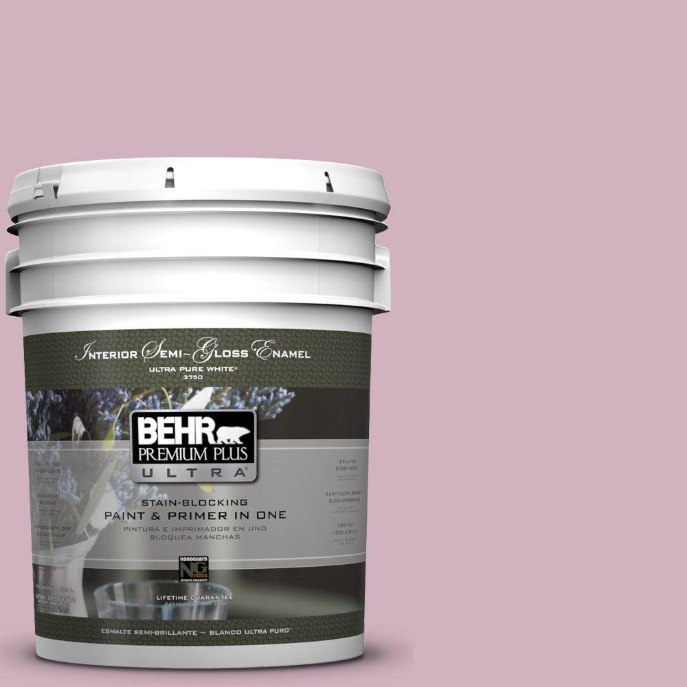 BEHR Premium Plus Ultra 5-gal. #S120-3 Candlelight Dinner Semi-Gloss Enamel Interior Paint