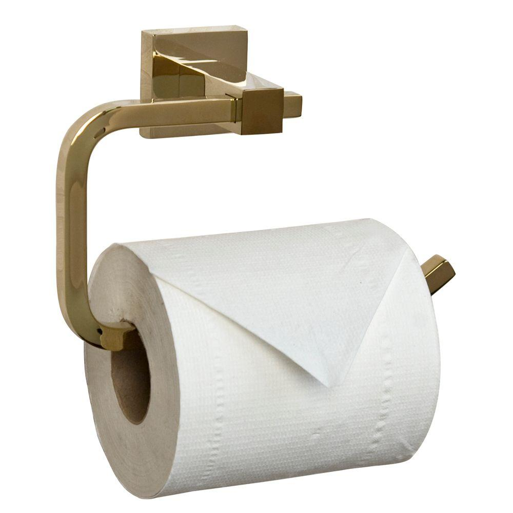 Barclay Products Jordyn Single Post Toilet Paper Holder in Polished Brass