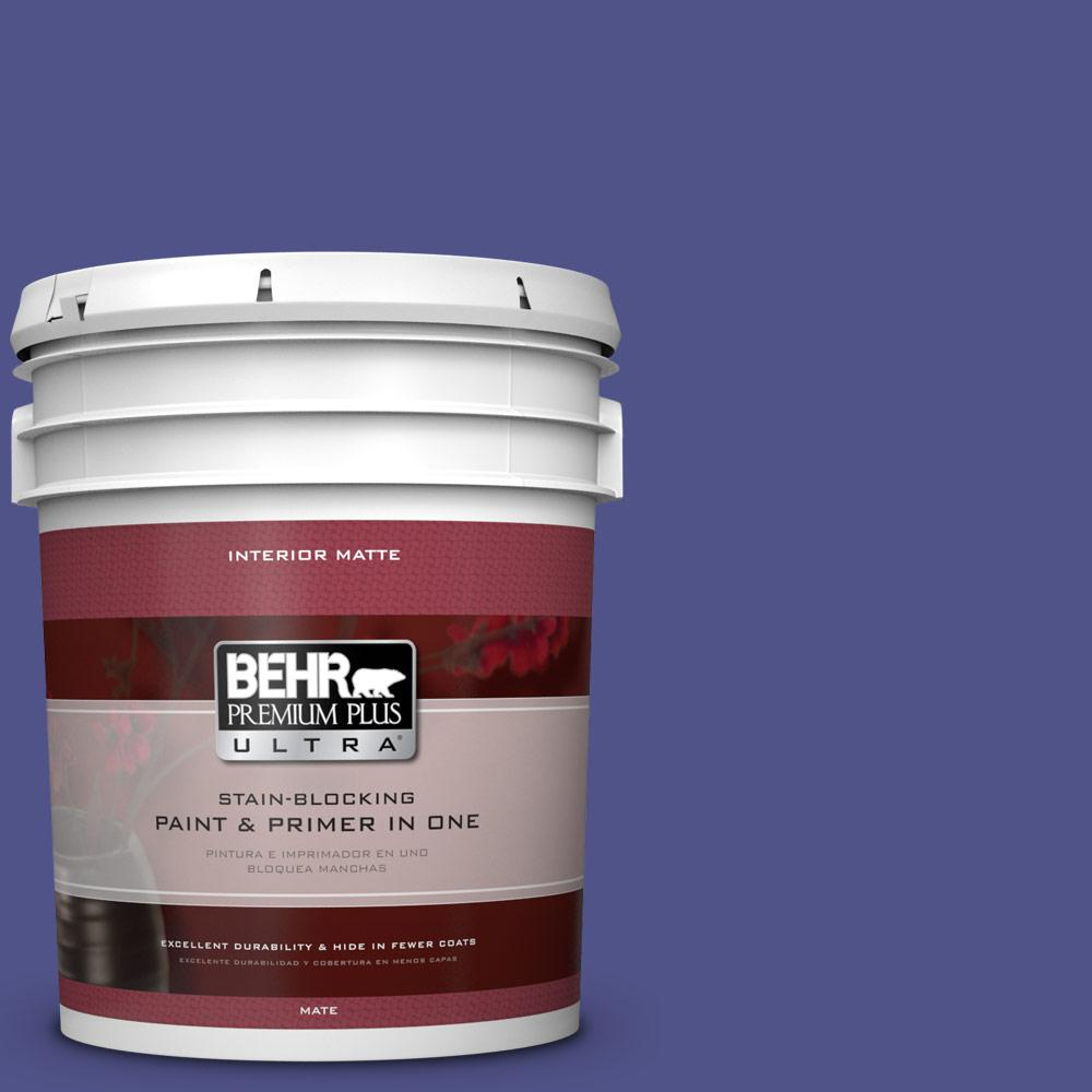 BEHR Premium Plus Ultra 5 gal. #P550-7 Purple Prince Matte Interior
