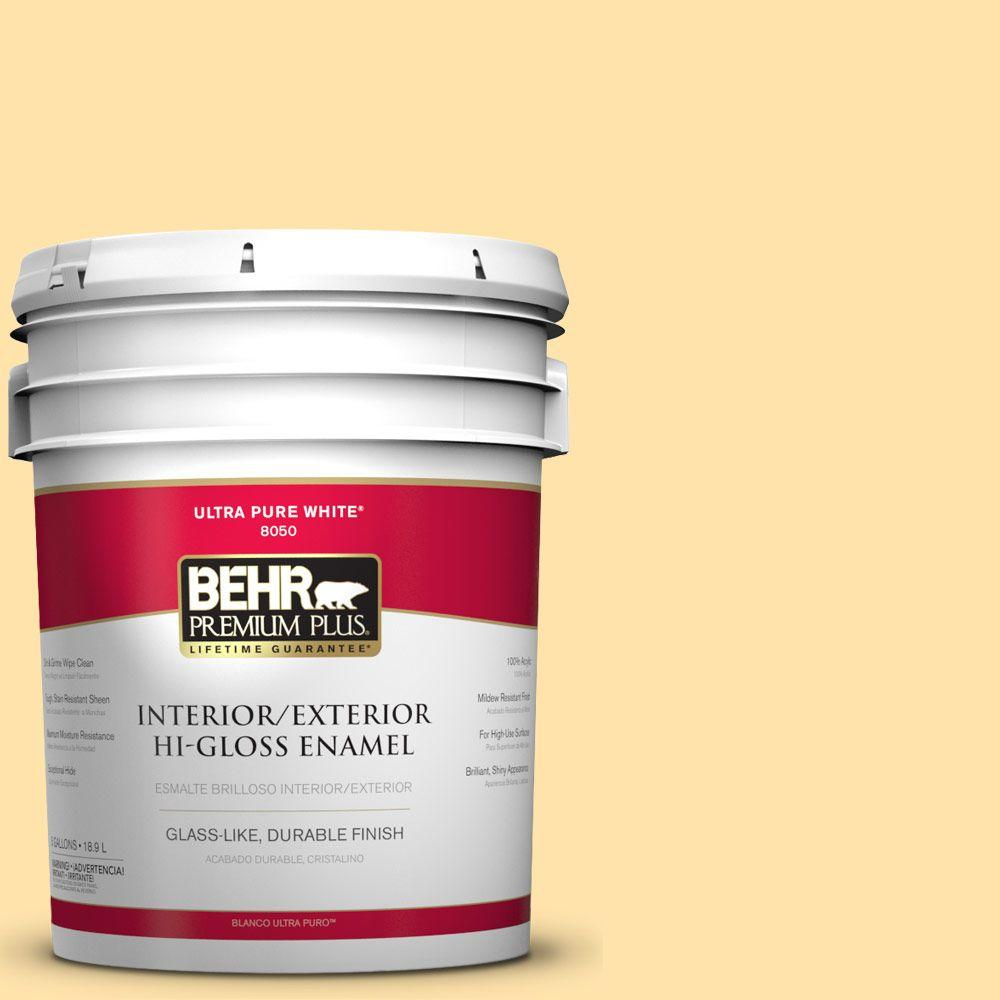 5-gal. #P270-3 Sunflower Seed Hi-Gloss Enamel Interior/Exterior Paint