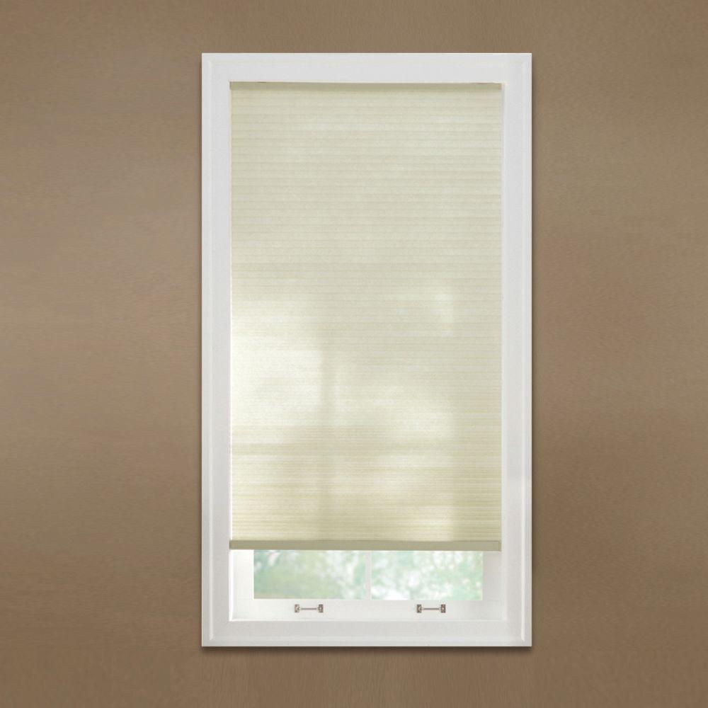 Cut-to-Width Parchment 9/16 in. Cordless Light Filtering Cellular Shade - 72