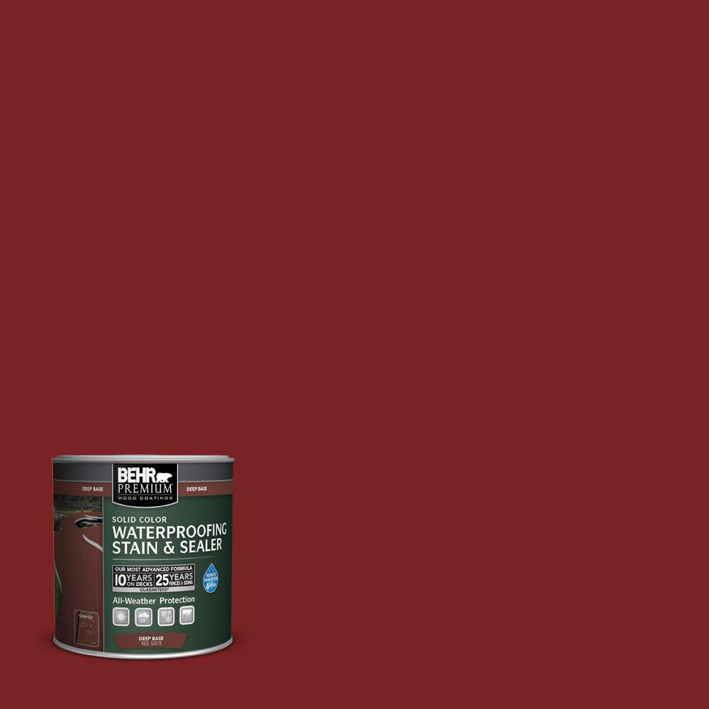 BEHR Premium 8 oz. #SC112 Barn Red Solid Color Waterproofing Stain and Sealer Sample