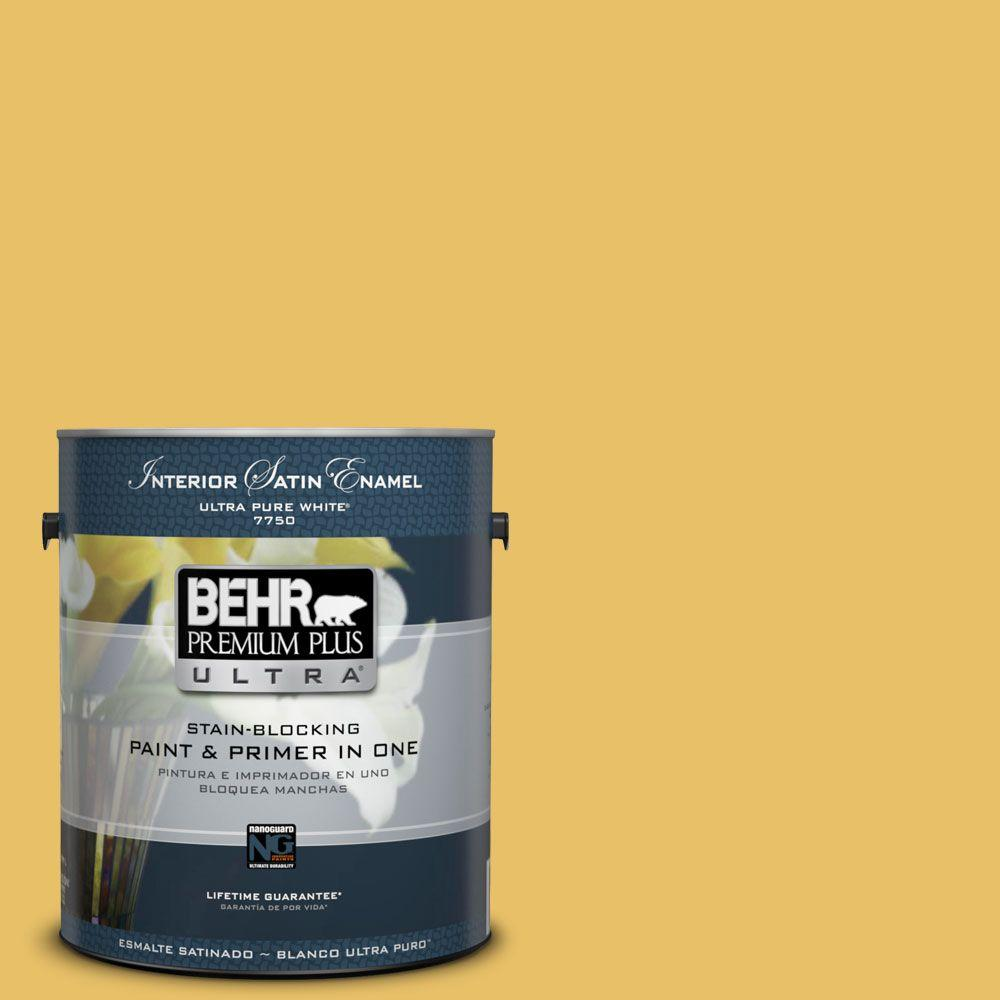 BEHR Premium Plus Ultra 1-gal. #360D-5 Golden Chalice Satin Enamel Interior Paint