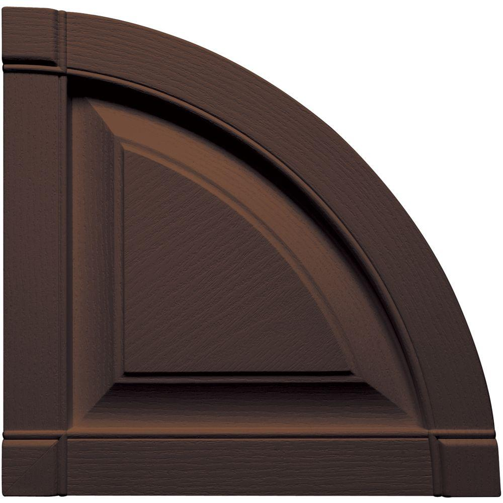 15 in. x 15 in. Raised Panel Design Federal Brown Quarter