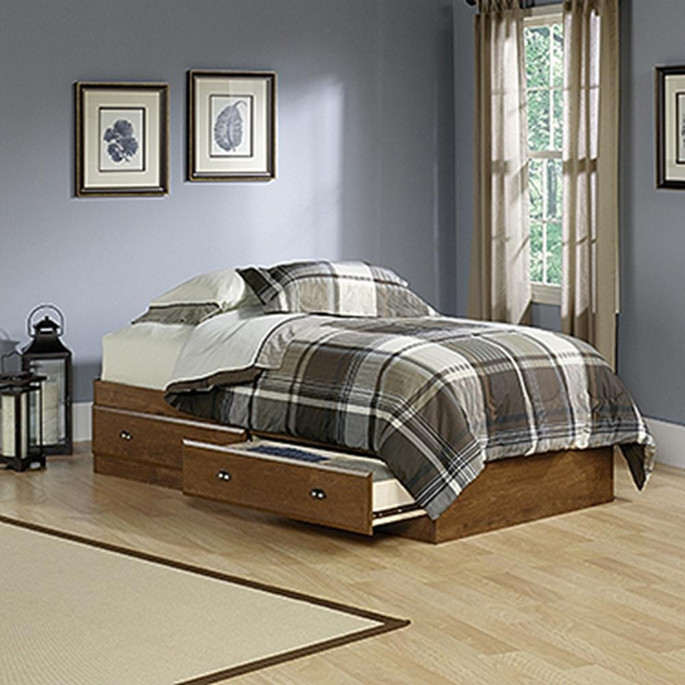 SAUDER Shoal Creek Collection Oiled Oak Twin-Size 2-Drawer Mate's Bed