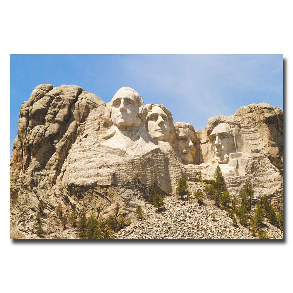 22 in. x 32 in. Mount Rushmore Canvas Art