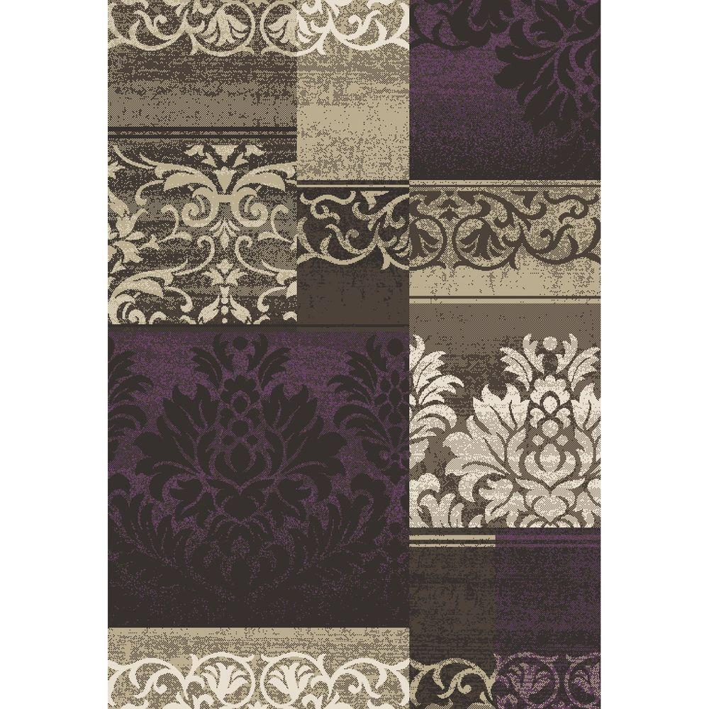 Concord Global Trading Casa Collection Capri Amethyst 5 ft. 3 in. x 7 ft. 3 in. Area Rug