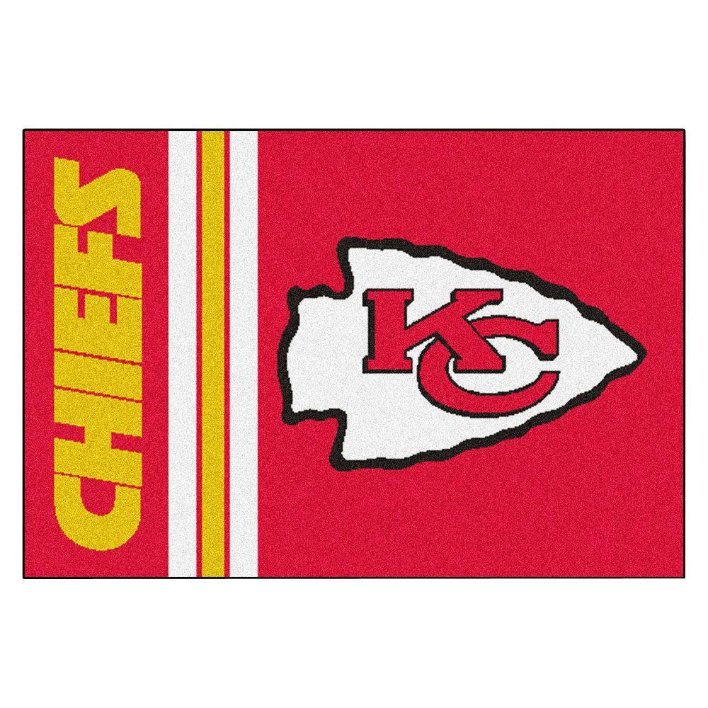 NFL - Kansas City Chiefs Red Uniform Inspired 1 ft. 7 in. x 2 ft. 6 in. Accent Rug