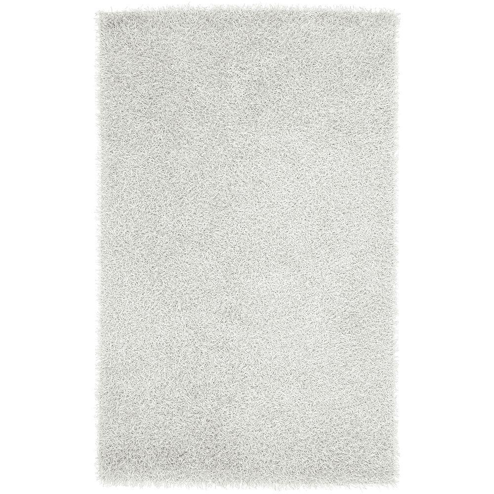 Lindon White Polyester 8 ft. x 10 ft. Area Rug
