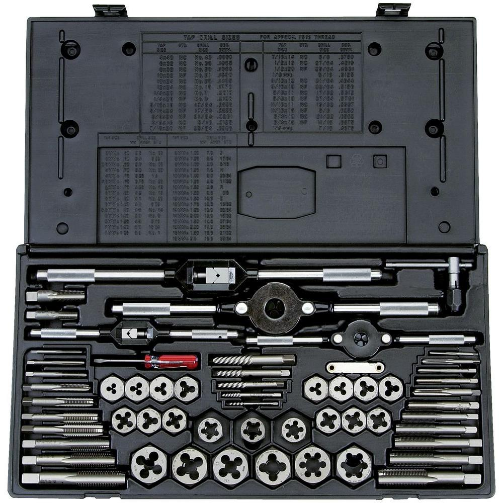 Vermont American High Speed Steel Tap and Die Set (58-Piece)-396502 -