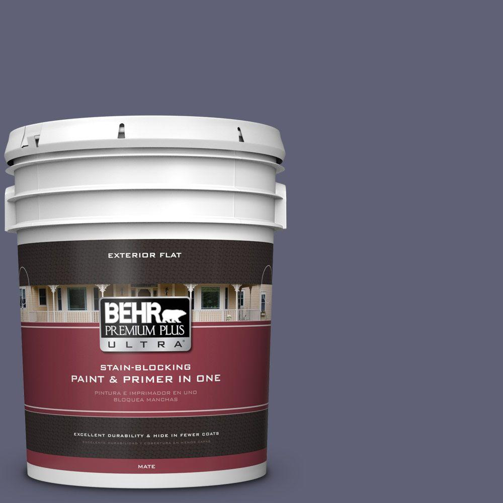 5-gal. #620F-6 Purple Orchid Flat Exterior Paint