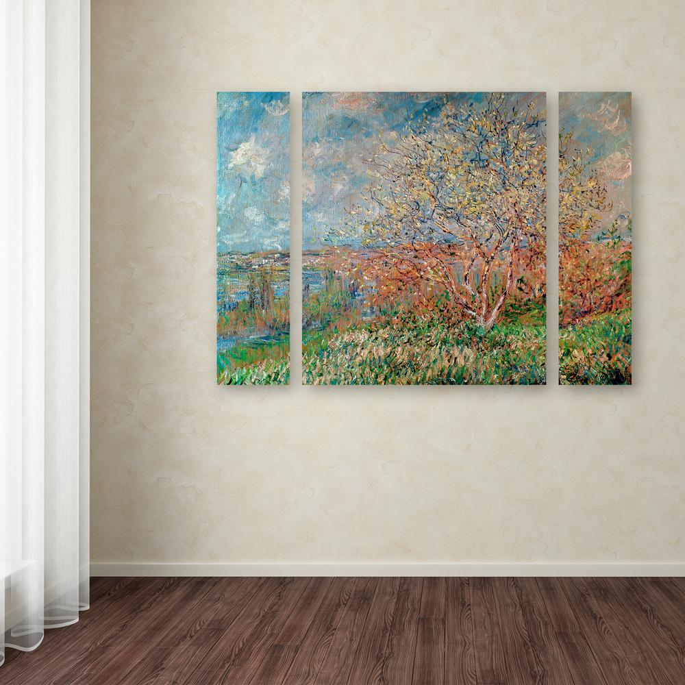 "24 in. x 32 in. ""Spring 1880"" by Claude Monet Printed"