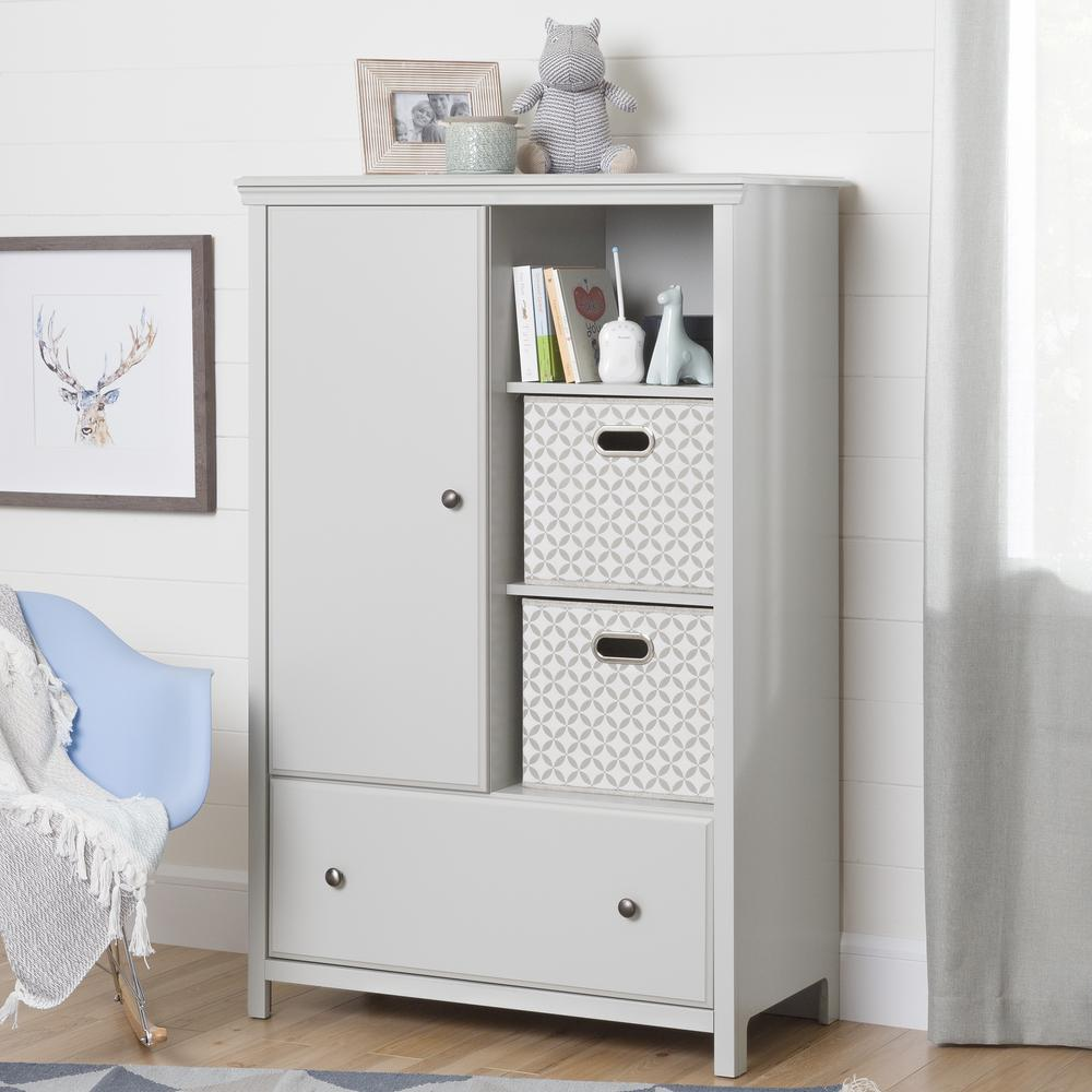 Cotton Candy Soft Gray Armoire