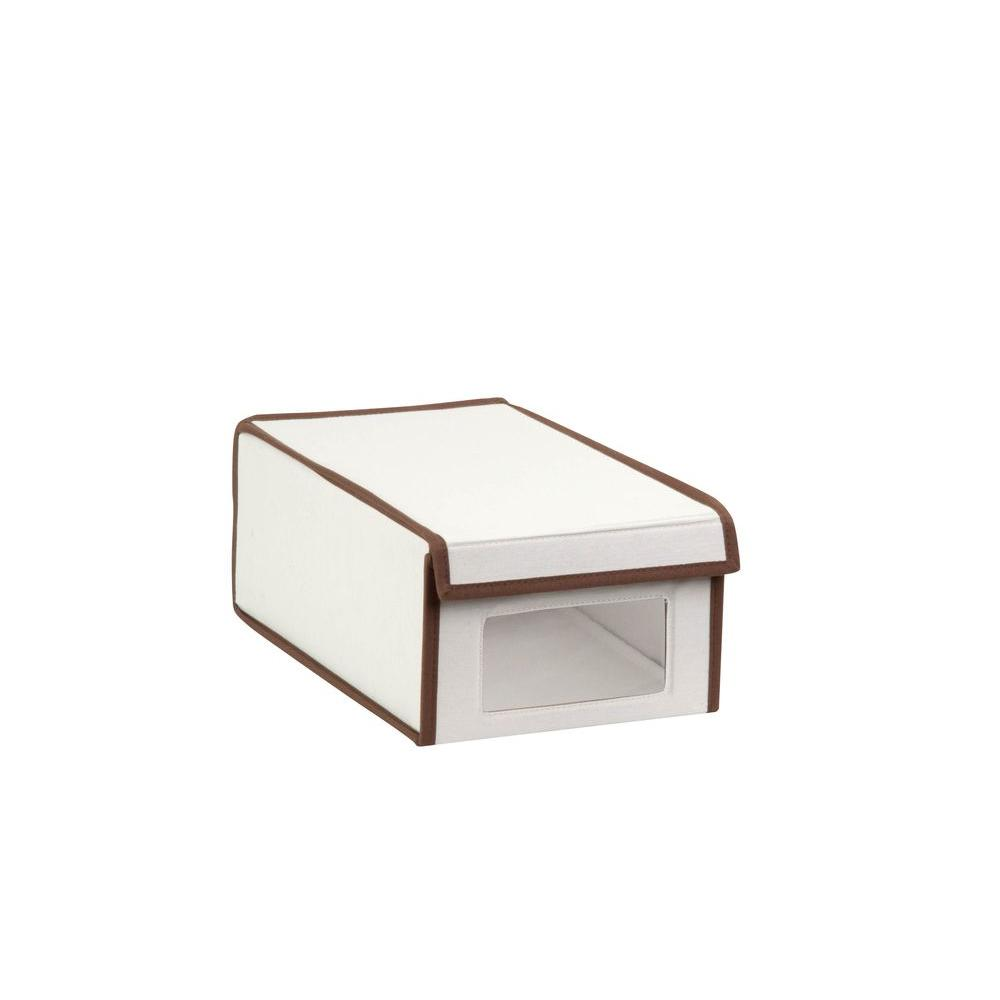 Honey-Can-Do Small Canvas Window Shoe Box in Natural