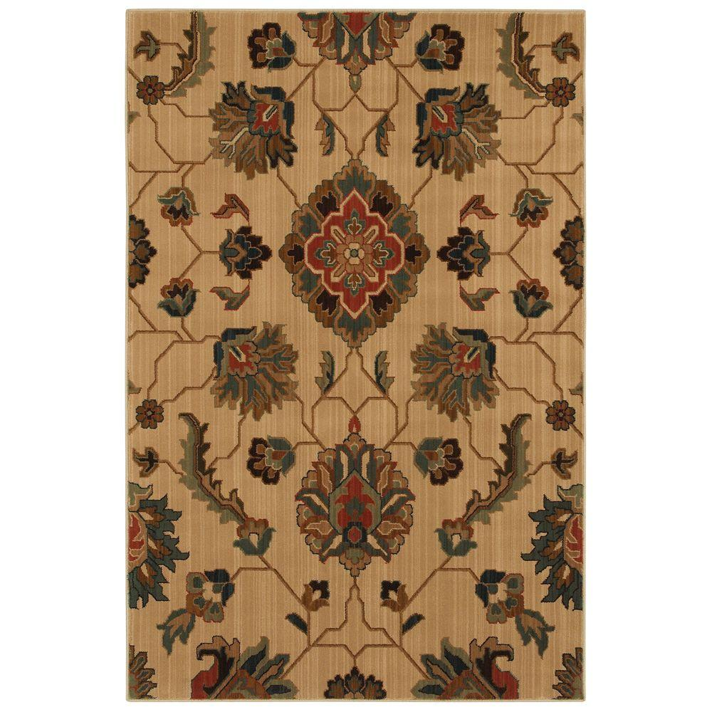 null Canton Light Beige 8 ft. x 10 ft. Area Rug