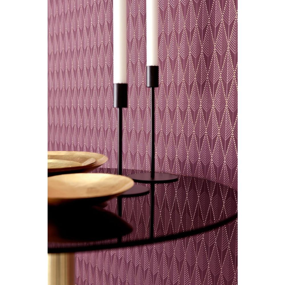 Brewster 57.5 sq. ft. Purple Geometric Texture Wallpaper-WV5679 - The Home
