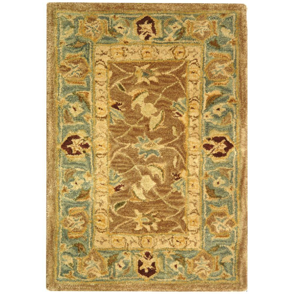 Safavieh Anatolia Brown/Blue 2 ft. x 3 ft. Area Rug-AN549A-2 -