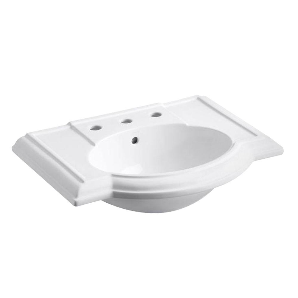 Devonshire 4-7/8 in. Vitreous China Pedestal Sink Basin in White with