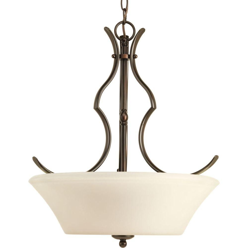 Applause Collection 3-Light Antique Bronze Foyer Pendant