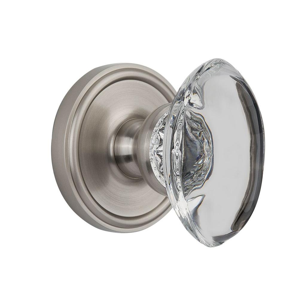 Nostalgic Warehouse Georgetown Satin Nickel Dummy with Provence Crystal Knob