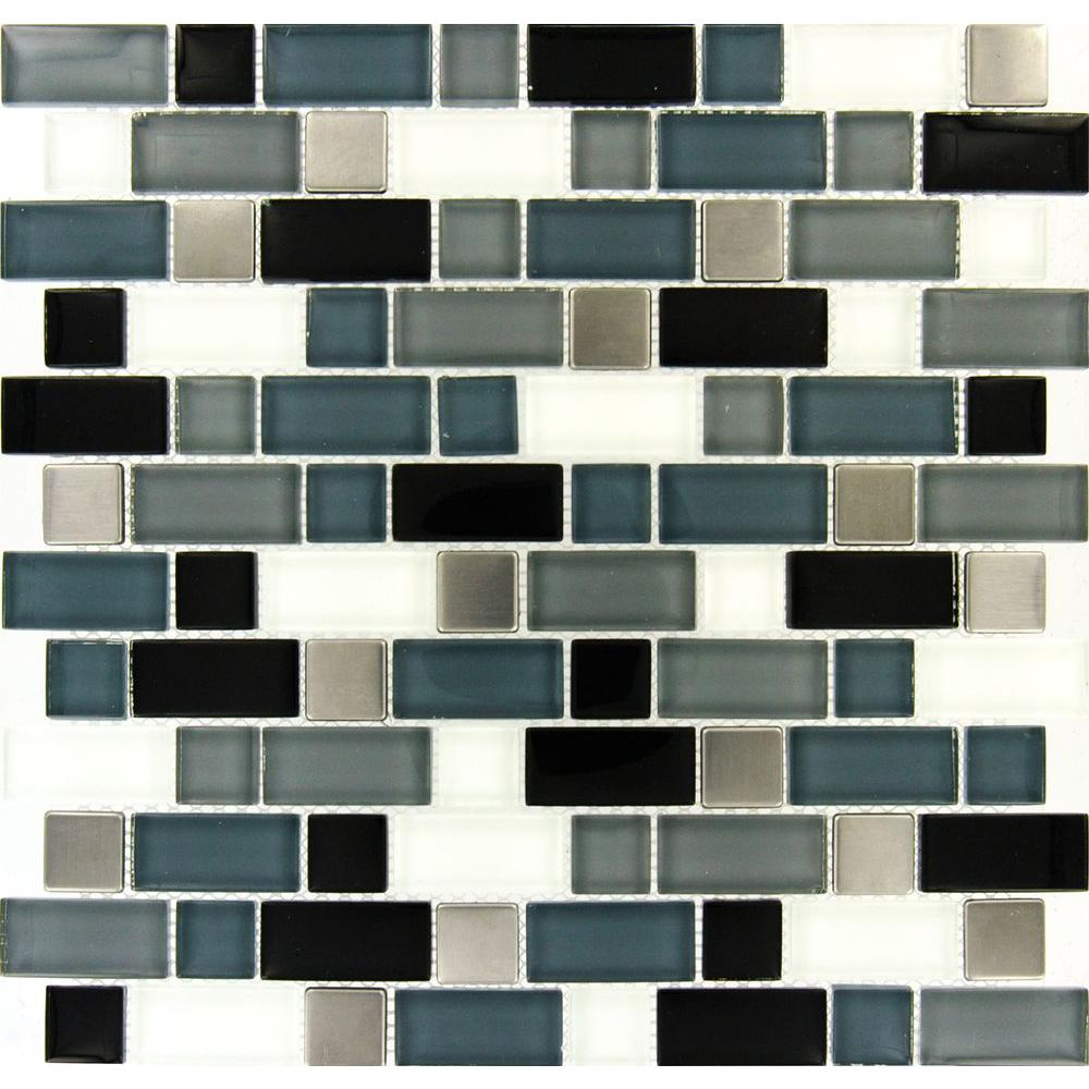 Crystal Cove 12 in. x 12 in. Glass Blend Mesh-Mounted Mosaic