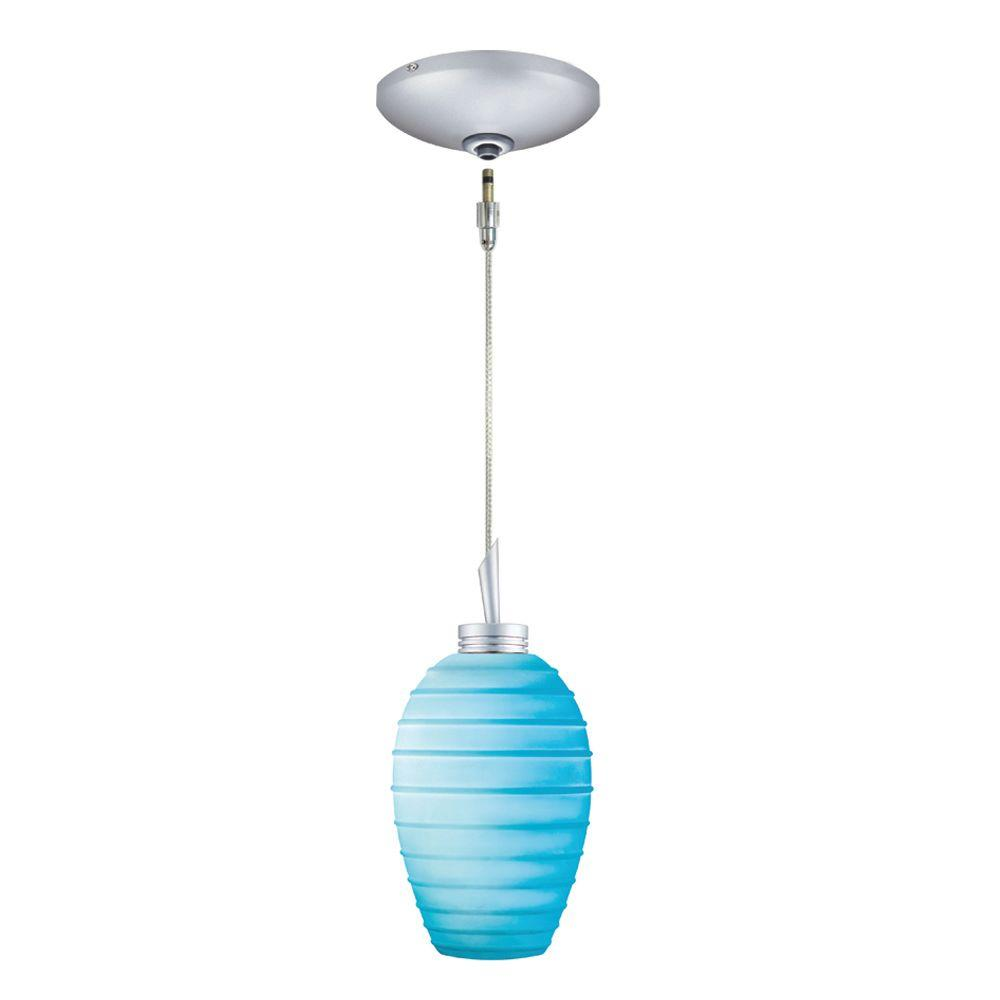 JESCO Lighting Low Voltage Quick Adapt 3-1/4 in. x 102-3/4 in. Turquoise Pendant and Canopy Kit