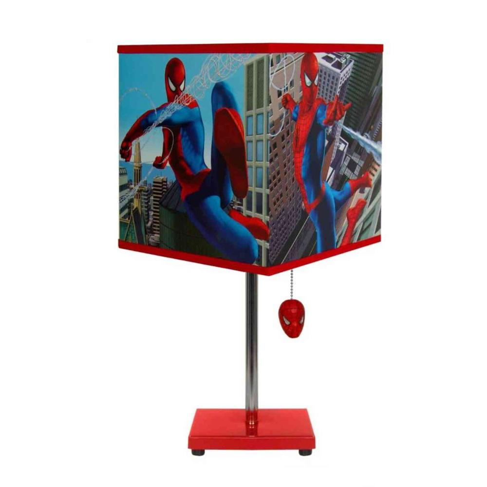 Marvel 18 in. Spiderman Table Lamp with Decorative Shade-DISCONTINUED