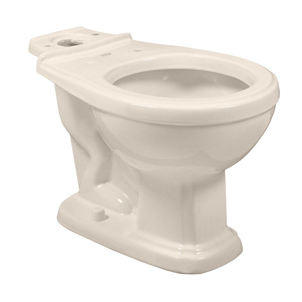 Antiquity/Repertoire Round Front Toilet Bowl Only in White