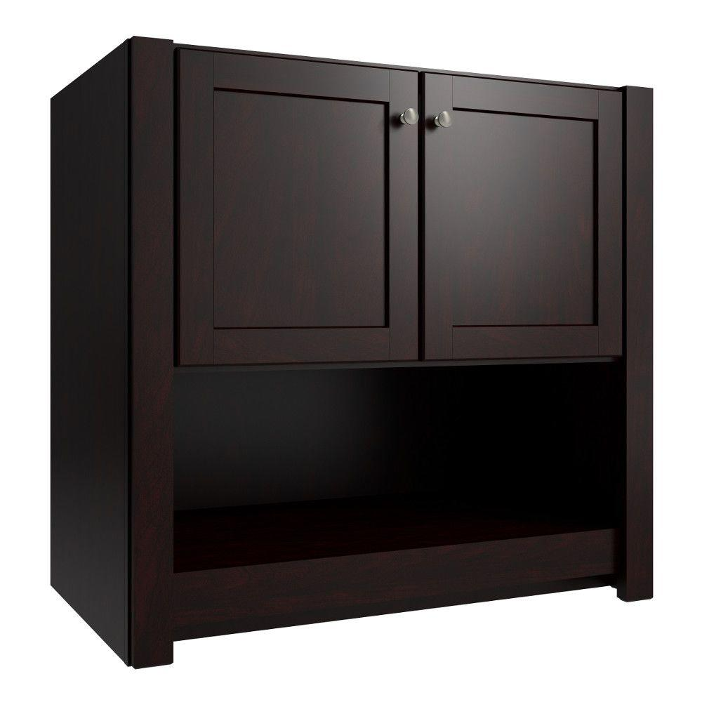 Cardell Balin 36 in. W x 21 in. D x 34.5 in. H Vanity Cabinet Only in Twilight