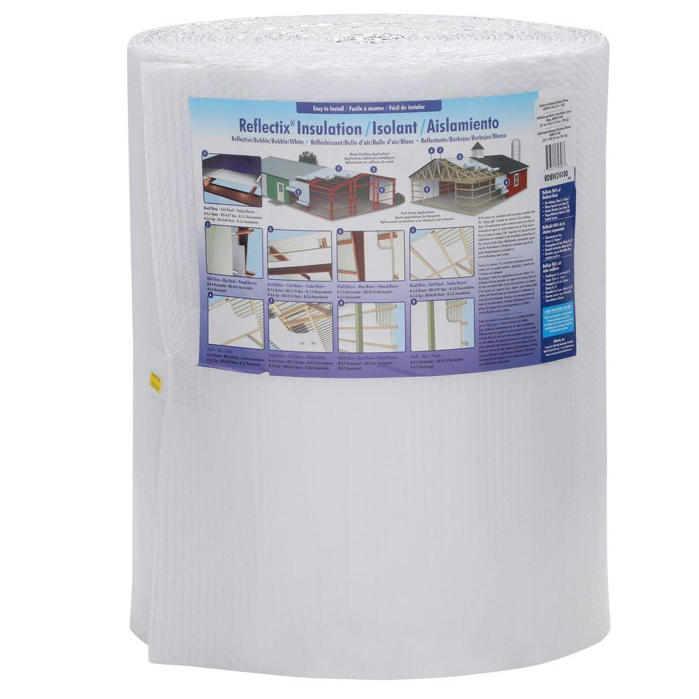 Reflectix 24 in. x 100 ft. White Single Reflective Insulation-RDBW24100 -