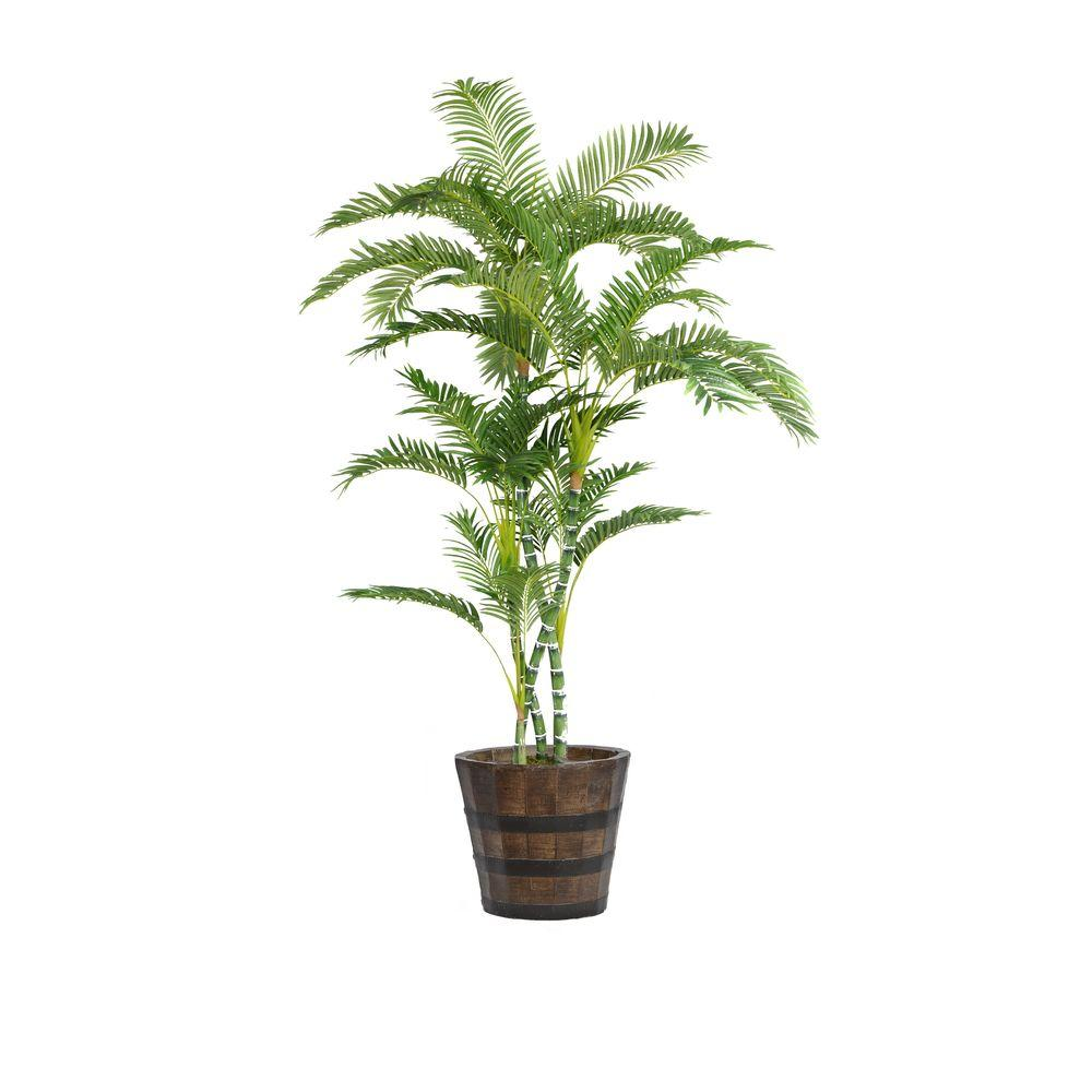Laura Ashley 80 In Tall Palm Tree In Planter Vhx112216