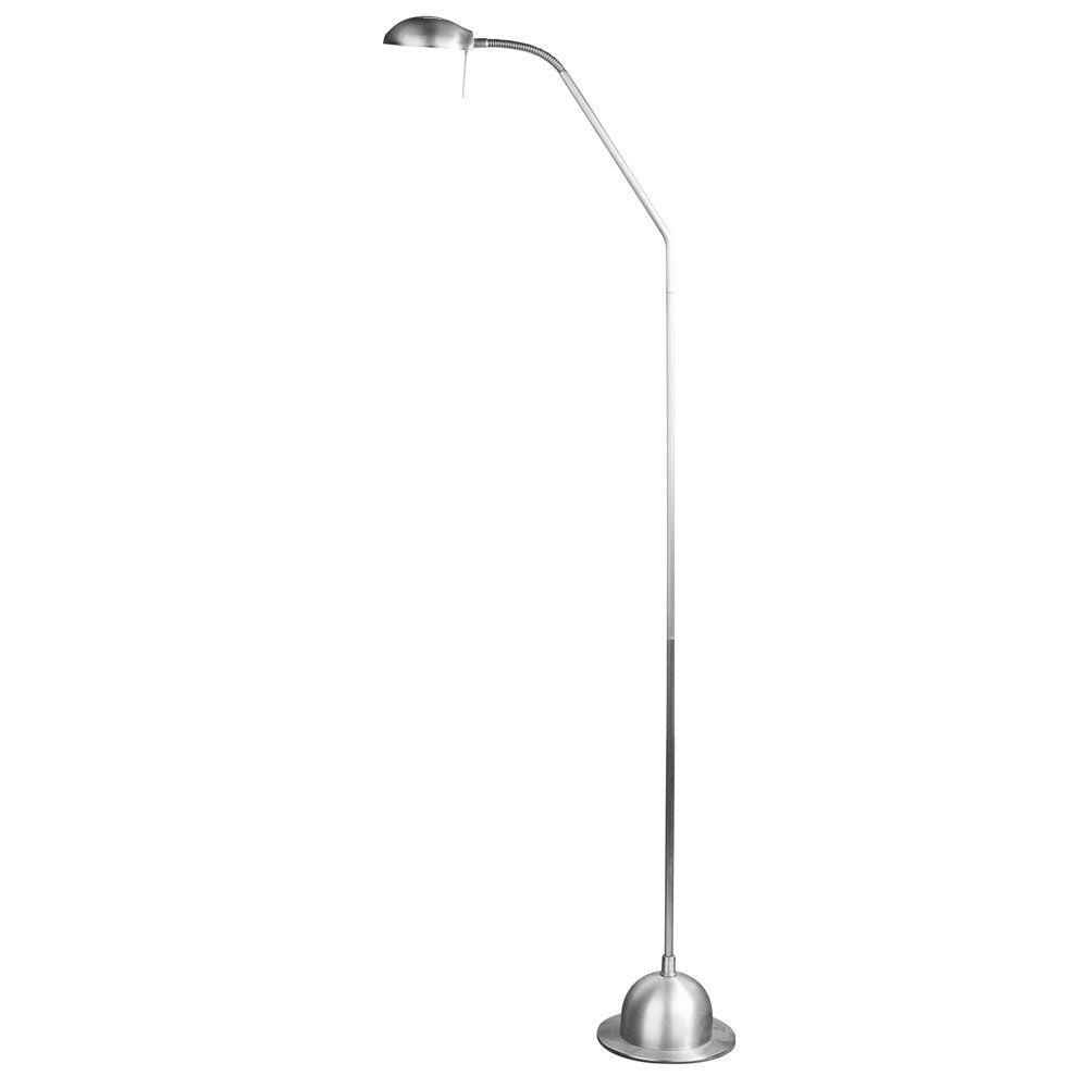 Radionic Hi Tech Moxley 8 in. Satin Chrome Floor Lamp