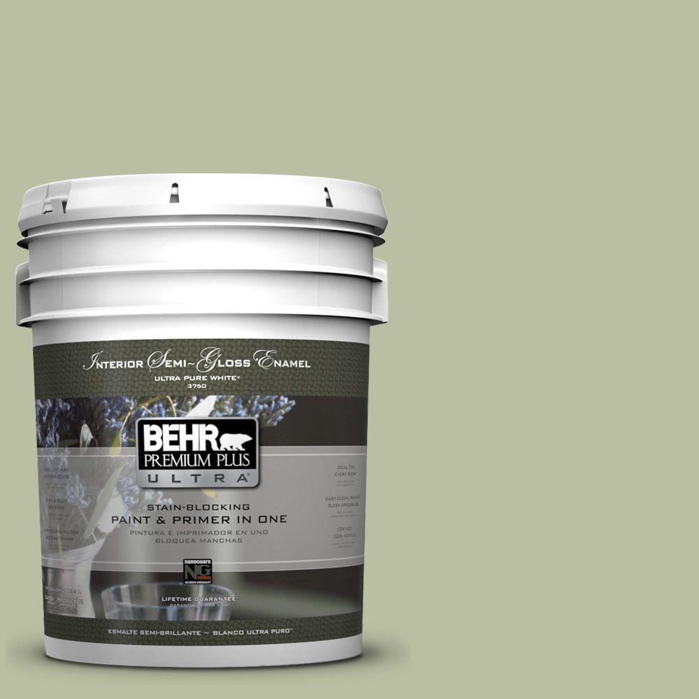 5-gal. #ICC-57 Dried Thyme Semi-Gloss Enamel Interior Paint