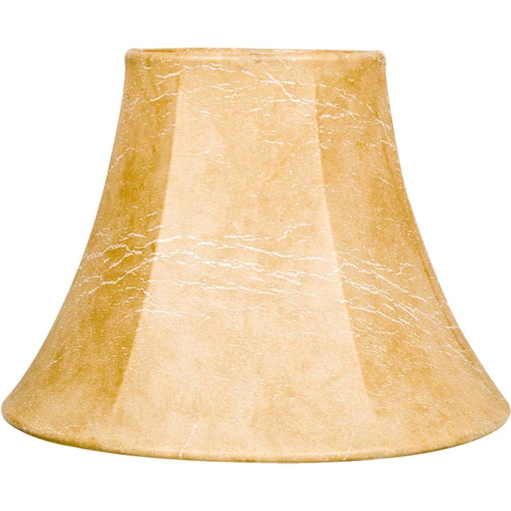 Finishing Touch Stretch Natural Beige Faux Leather Chandelier Shade-DISCONTINUED