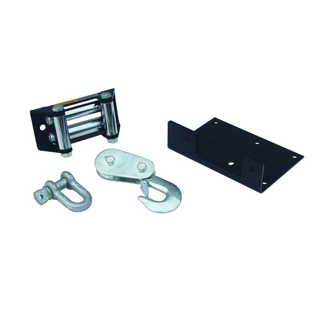 LT2000 ATV Winch Accessory Upgrade Kit with Mounting Plate, Roller Fairlead,