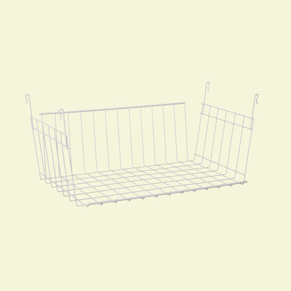 ClosetMaid 9-3/4 in. D x 7-7/8 in. H x 17 in. L Hanging Basket for Wire Shelving