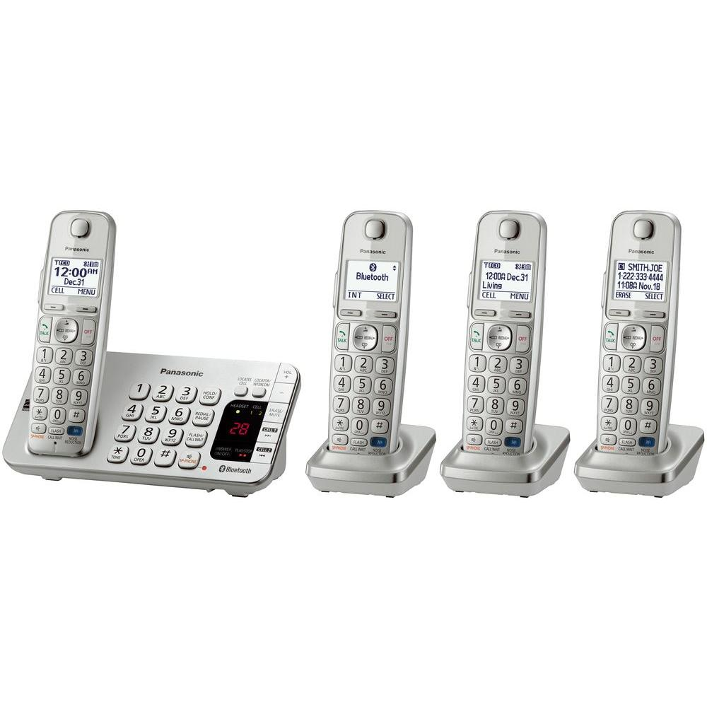 Panasonic Link2Cell 4-Handset Digital Cordless Bluetooth Cellular Convergence